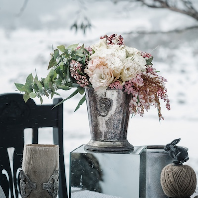 Winter table display